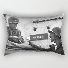 General Patton In Sicily Rectangular Pillow