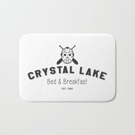 Crystal Lake Bed and Breakfast, Former Camp Crystal, Est.1980, Design for Wall Art, Posters, Tshirts, Men, Women, Kids Bath Mat