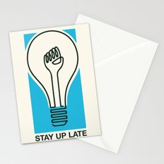 Stay Up Late Stationery Cards
