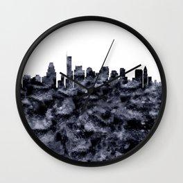 Boston Skyline Massachusetts Wall Clock