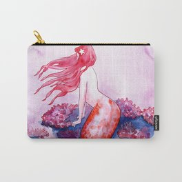 Red Coral Mermaid Carry-All Pouch