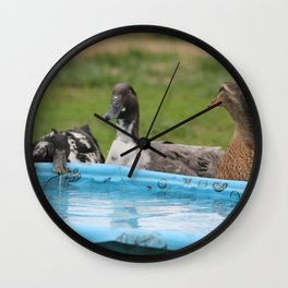 Chit Chat at the Watering Hole Wall Clock