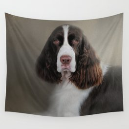 Waiting Patiently - English Springer Spaniel Wall Tapestry