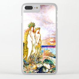 "Gustave Moreau ""The Sirens"" Clear iPhone Case"