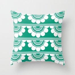 Retrô_Esmerald Throw Pillow