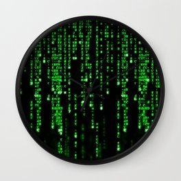 Matrix Binary Code Wall Clock