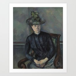 Madame Cézanne with Green Hat Art Print