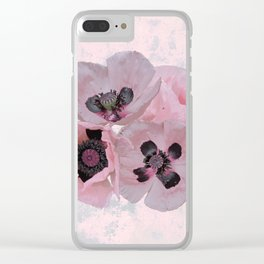 Poppies in May Clear iPhone Case