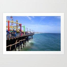 The Santa Monica Pier Art Print