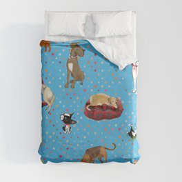 Lessons my dogs taught me. Duvet Cover