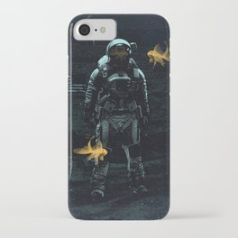 Space goldfish iPhone Case