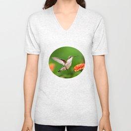 Beautiful Hummingbird Unisex V-Neck