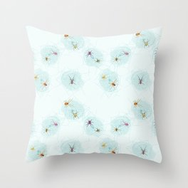 Spiders and Spiderwebs Throw Pillow