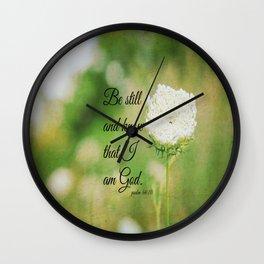 Psalm 46:10 Be Still Wall Clock