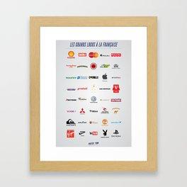 Les logos français Framed Art Print