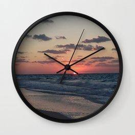 northern coast egypt sunset 4 Wall Clock