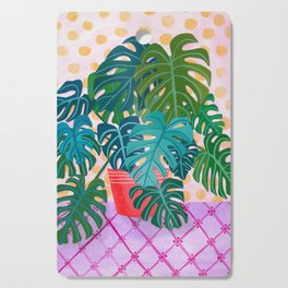 Split Leaf Philodendron Houseplant Painting Cutting Board