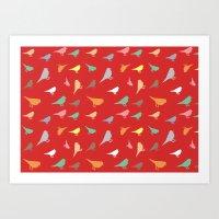 Colorfull birds Art Print