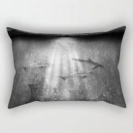dolphins, civilization. Rectangular Pillow