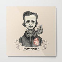 Edgar Allan Poe - Nevermore Metal Print
