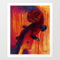 Fit as a Violin #5 Art Print