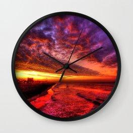 Dawn In Southern California Wall Clock