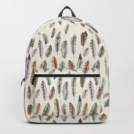 Feathery Nature Pattern Backpack