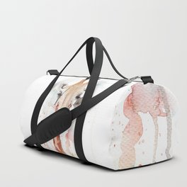 "Watercolor Painting of Picture ""Portrait of a Giraffe"" Duffle Bag"