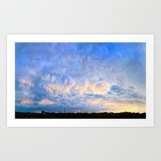 Evening's Last Light Art Print