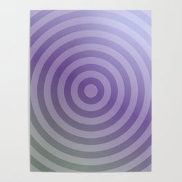 Metallic purple concentric circles Poster
