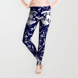 Abstract Carving: Blue Leggings