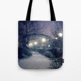 Winter Garden in the Snow Tote Bag