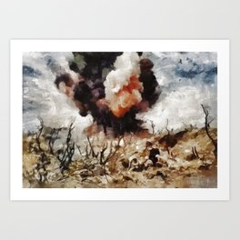 Marine Demolition, WWII Art Print