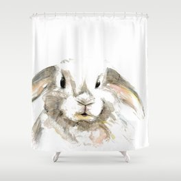 Bunny Love Shower Curtain
