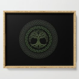 Celtic Tree Of Life Serving Tray