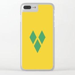 Saint Vincent and the Grenadines flag emblem Clear iPhone Case