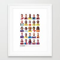 coffee Framed Art Prints featuring Playmakers by Daniel Nyari