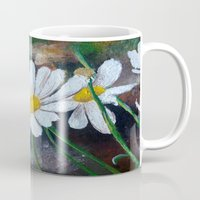 pushing daisies Mugs featuring Daisies  by ANoelleJay