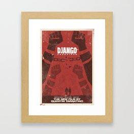 Django Unchained, Quentin Tarantino, minimalist movie poster, Leonardo DiCaprio, spaghetti western Framed Art Print
