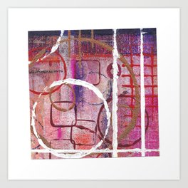 Lines, Circles And Squares, OH MY! 2 Bottom Square Art Print