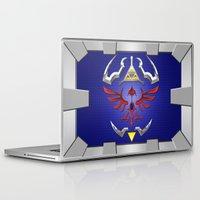 shield Laptop & iPad Skins featuring Zelda Shield by Janismarika
