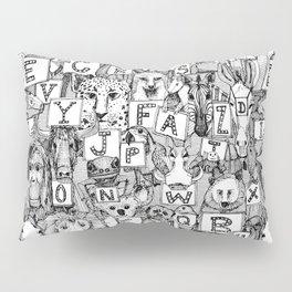 animal ABC black white Pillow Sham