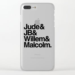 jude jb willem malcolm Clear iPhone Case