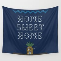 home sweet home Wall Tapestries featuring Home Sweet Home by Phil Jones