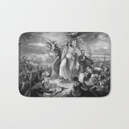 Outbreak Of Rebellion In The United States 1861 Bath Mat