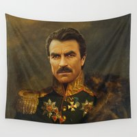replaceface Wall Tapestries featuring Tom Selleck - replaceface by replaceface