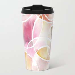 Cantaloupe and Berry Blush Watercolour Travel Mug