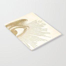 I See You. Vintage Gold Antique Paper Notebook