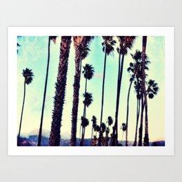SB Palm Walk Art Print