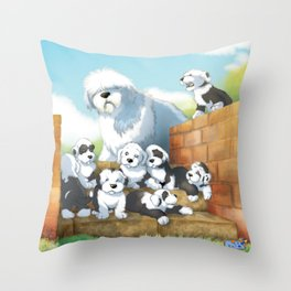 oes puppies Throw Pillow